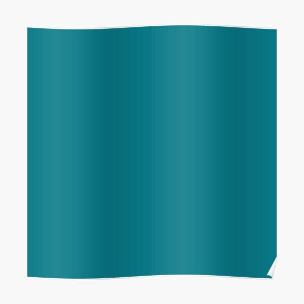 Biscay Bay Aqua Blue Solid Color Poster