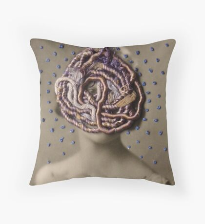 Water Woman, embroidered photo Throw Pillow