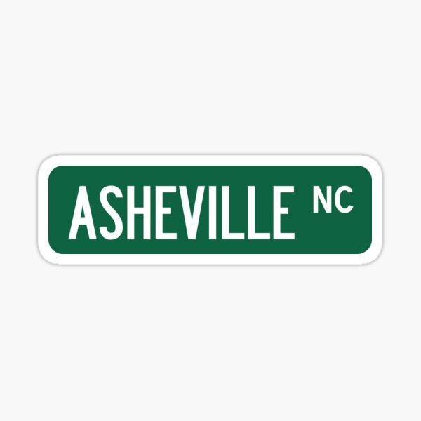 Asheville, NC Street Sign Sticker Sticker