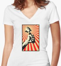 Coffee Revolution! Women's Fitted V-Neck T-Shirt