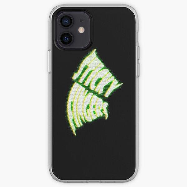 Logotipo de Sticky Fingers Funda blanda para iPhone