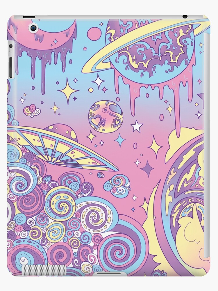 Space Aesthetic Pastel Galaxy Cute Tumblr Ipad Case Skin By Doodletown Redbubble