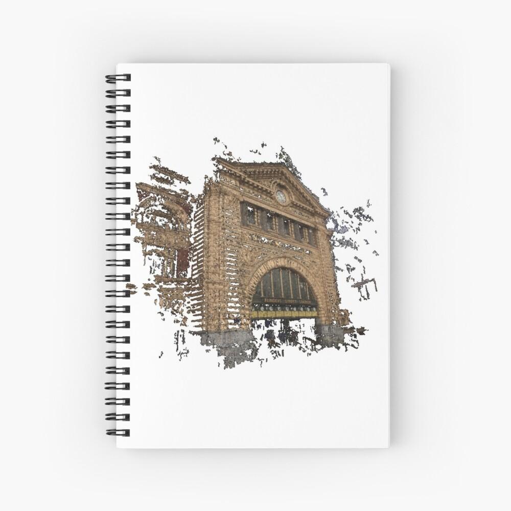 Flinders Street Station 3D Spiral Notebook