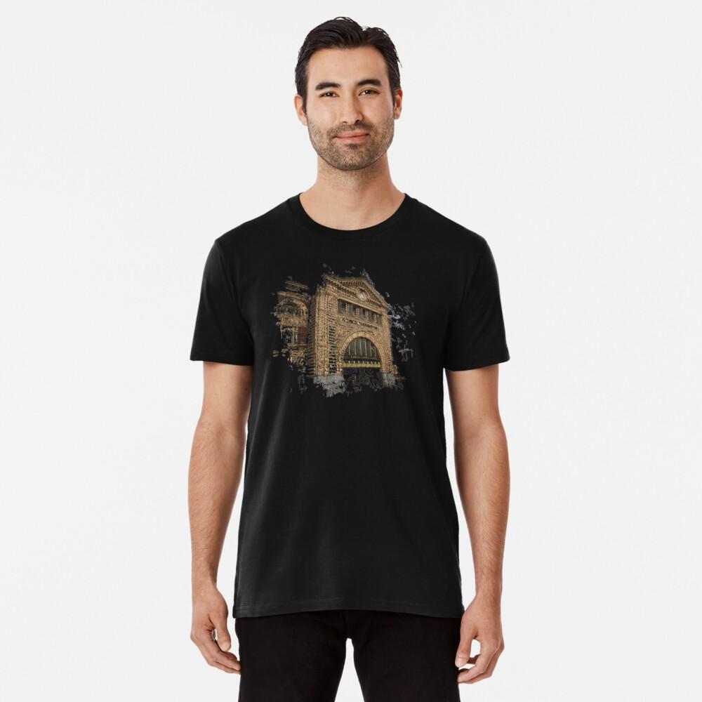 Flinders Street Station 3D Premium T-Shirt