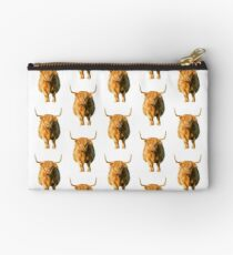 Shaggy Highland Cow Studio Pouch
