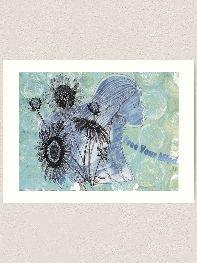 Alternate view of Free Your Mind Mixed Media Art Print