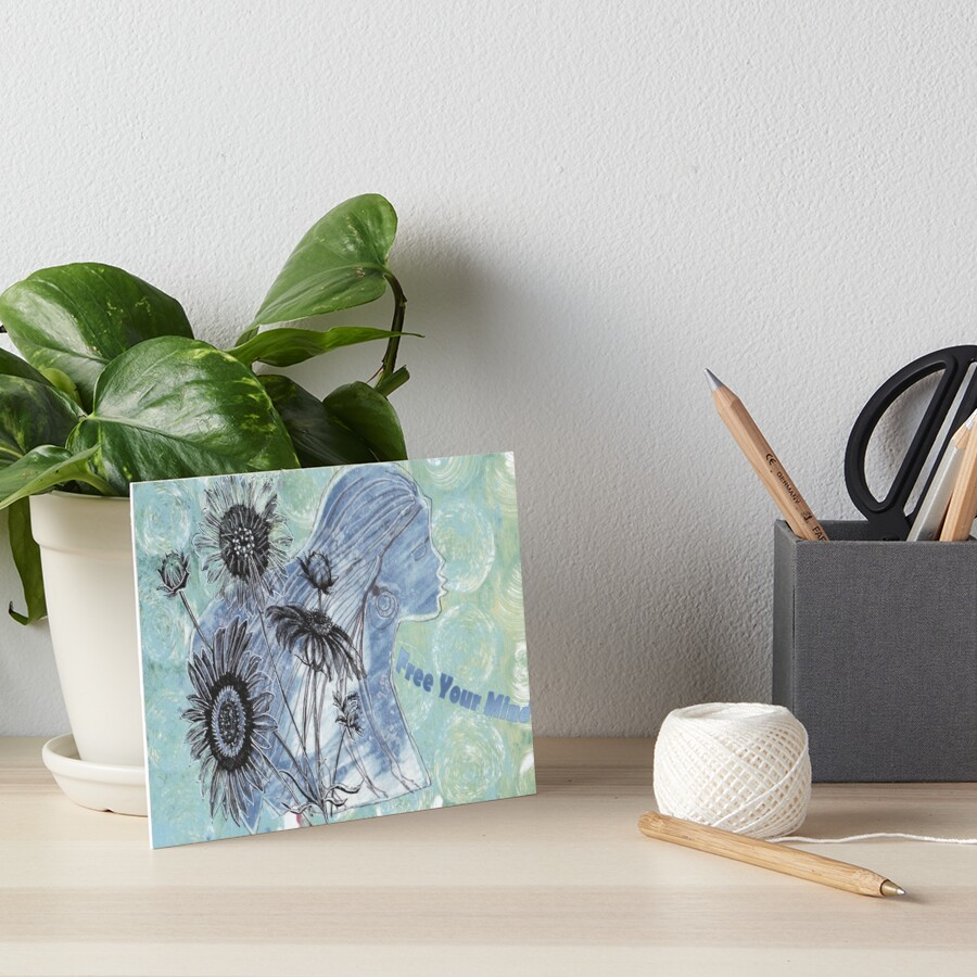 Free Your Mind Mixed Media Art Board Print