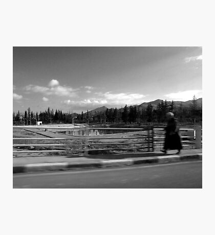 one man's walk to freedom Photographic Print