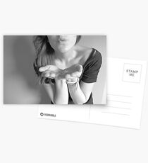 blowing a kiss Postcards
