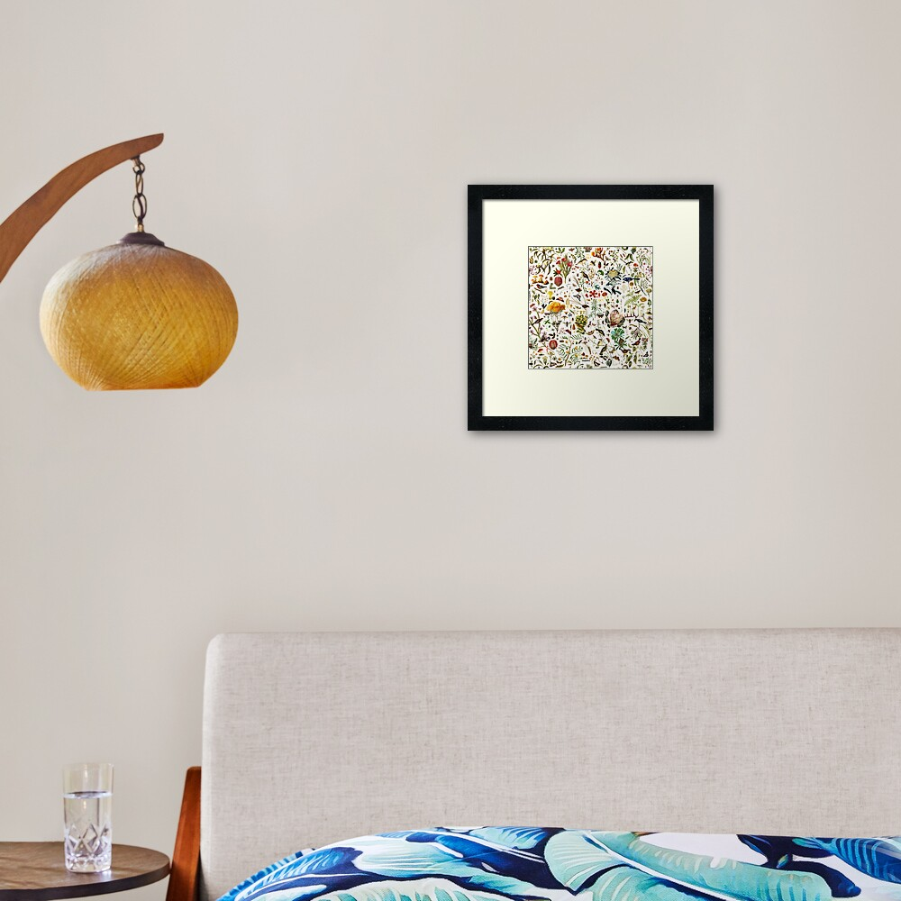 Biology Australia. Framed Art Print
