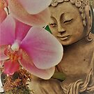 Buddha With Orchid by pattistudio