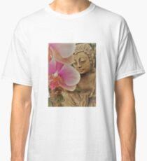 Buddha With Orchid Classic T-Shirt