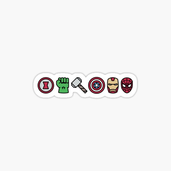 MARVEL Superheroes Icons Sticker