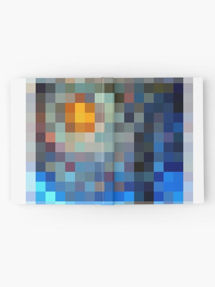 Alternate view of #Design, #plaid, #pattern, #illustration, blanket, square, gingham, textile, art, picnic, mosaic, pixel Hardcover Journal