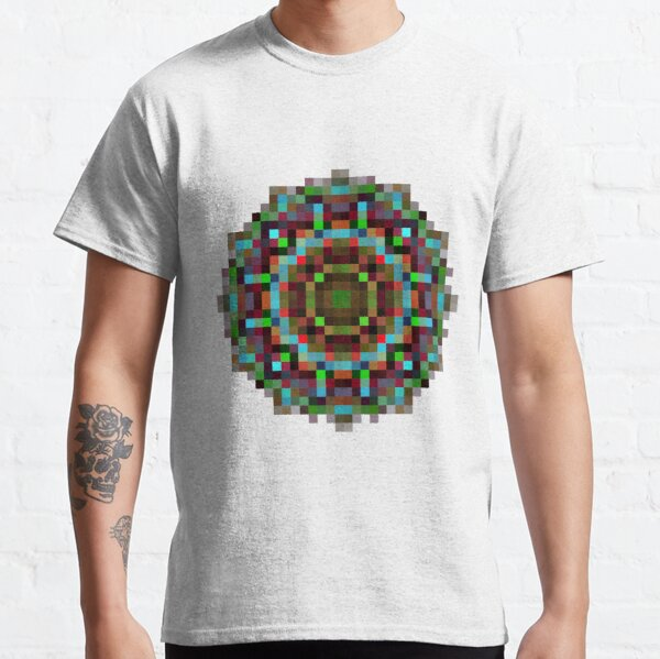 #art, #abstract, #illustration, #design, creativity, pattern, vector, square, mosaic, nature, decoration, color image Classic T-Shirt