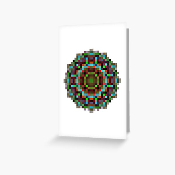#art, #abstract, #illustration, #design, creativity, pattern, vector, square, mosaic, nature, decoration, color image Greeting Card