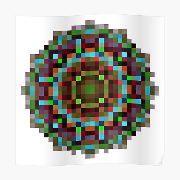#art, #abstract, #illustration, #design, creativity, pattern, vector, square, mosaic, nature, decoration, color image Poster