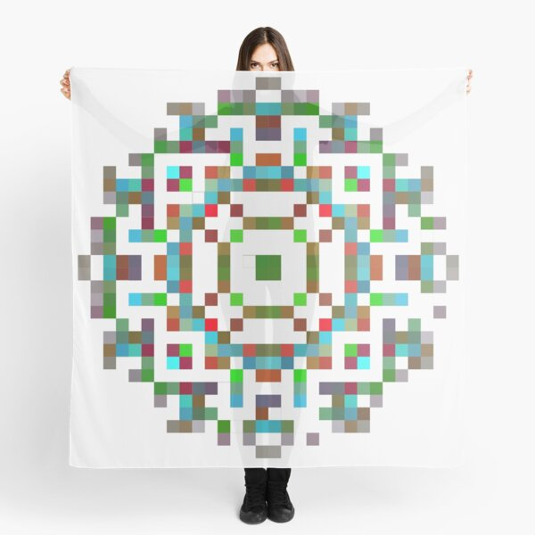 #Art, #abstract, #illustration, #design, creativity, pattern, vector, square, mosaic, nature, decoration, color image, textured, separation Scarf