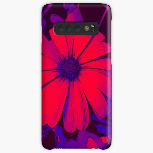 Rot-lila Blumenmotiv WelikeFlowers Samsung Galaxy Leichte Hülle