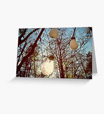 lightbulb forest  Greeting Card