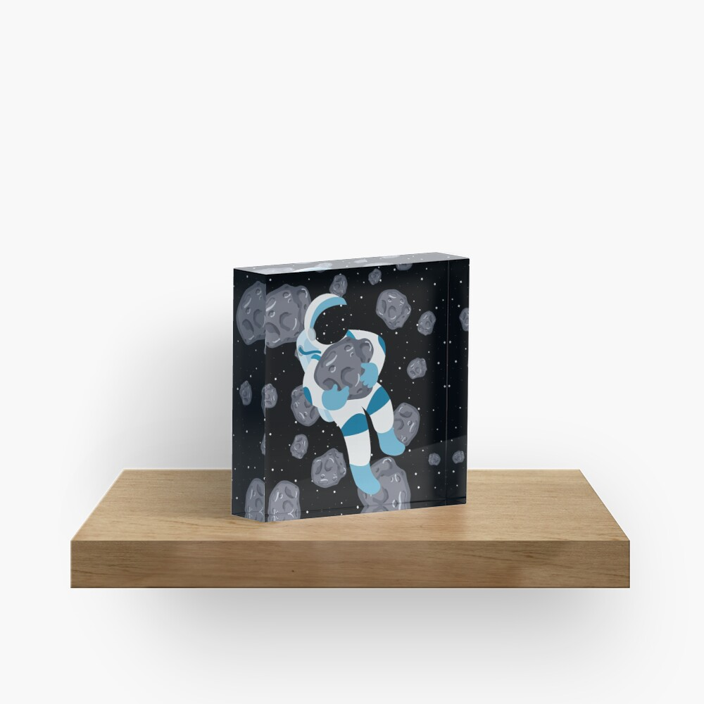 Asteroid Hugs Acrylic Block