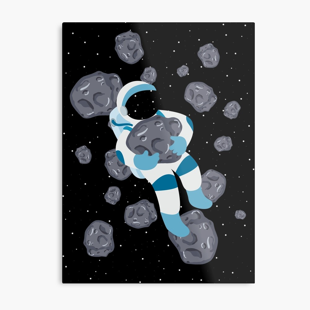 Asteroid Hugs Metal Print