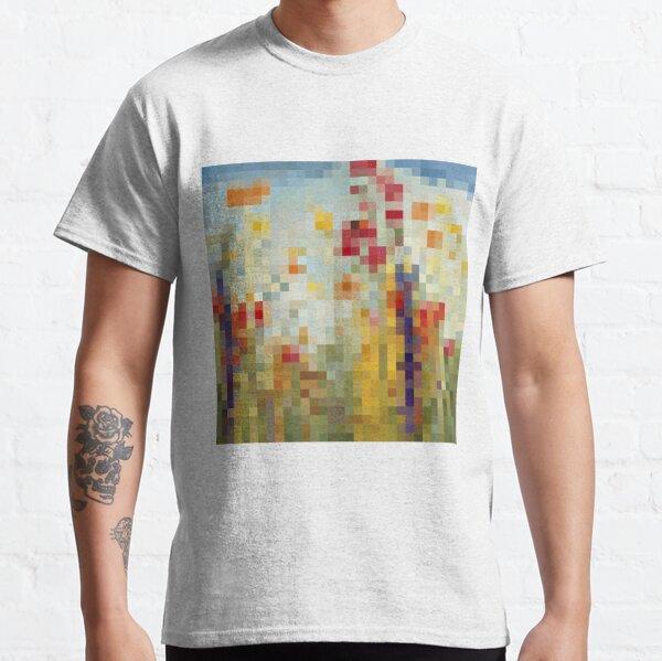 #flower, #painting, #art, #leaf, illustration, canvas, design, nature, summer, decoration, pattern, color image Classic T-Shirt