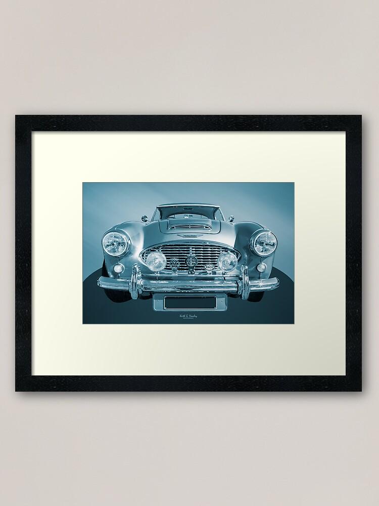 Austin Healey 100M classic car greeting card with engine sound inside.