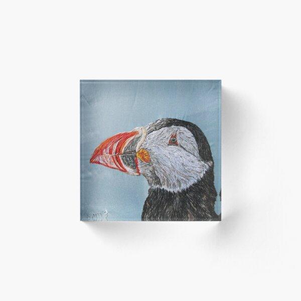 Puffin Art Acrylic Block