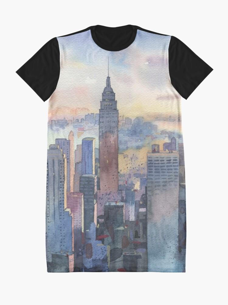 Alternate view of New York Graphic T-Shirt Dress