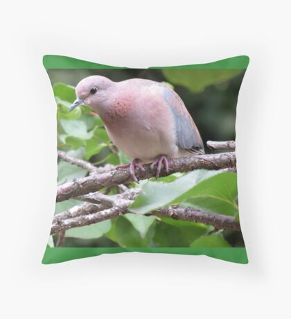 A visitor in the apricot tree Throw Pillow