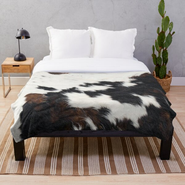 Cowhide Detail Throw Blanket