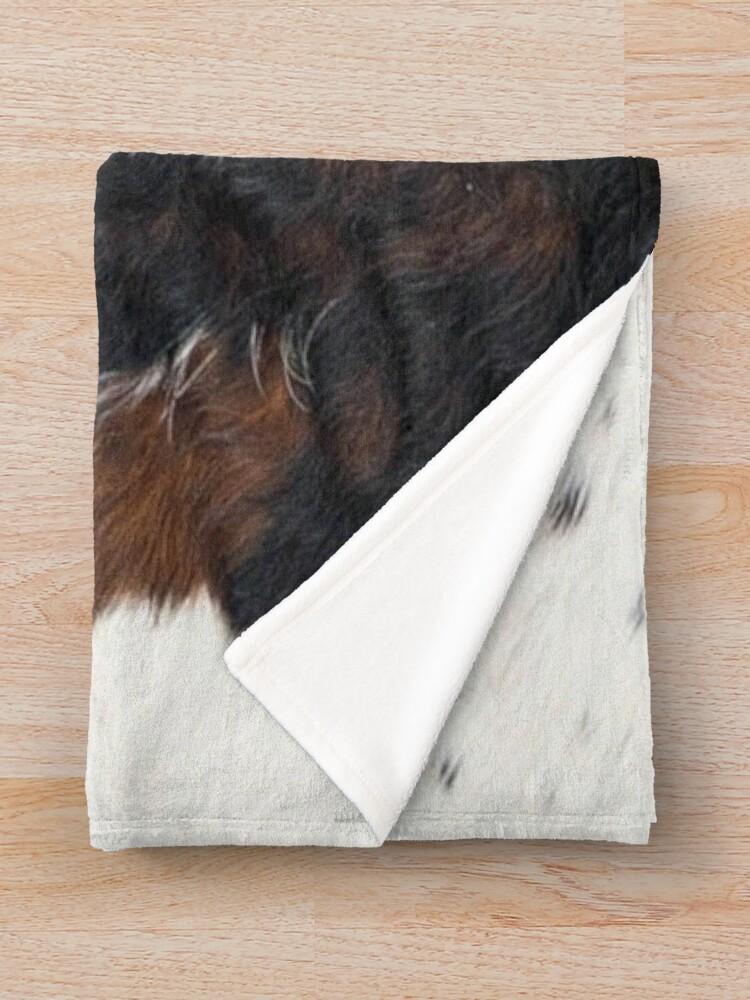 Alternate view of Cowhide Detail Throw Blanket