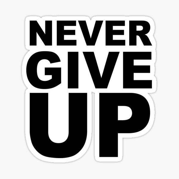 Never Give Up BLACKB Sticker