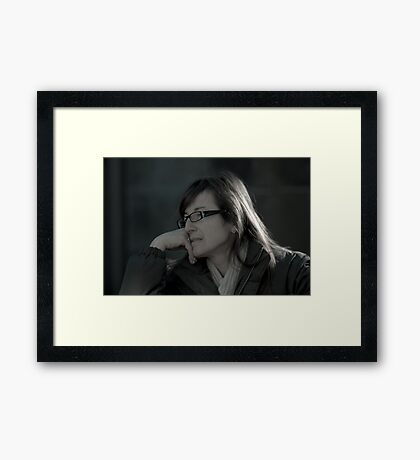 Deep In Conversation & Thought. Framed Print