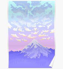 Póster Sunset on Pastel Mountain