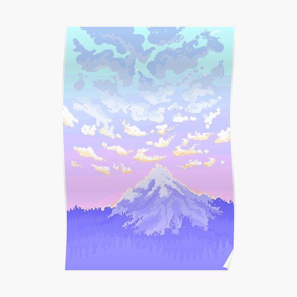 Sunset on Pastel Mountain Poster