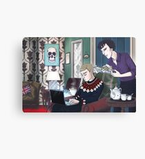Late Lunch at 221B Baker Street Canvas Print