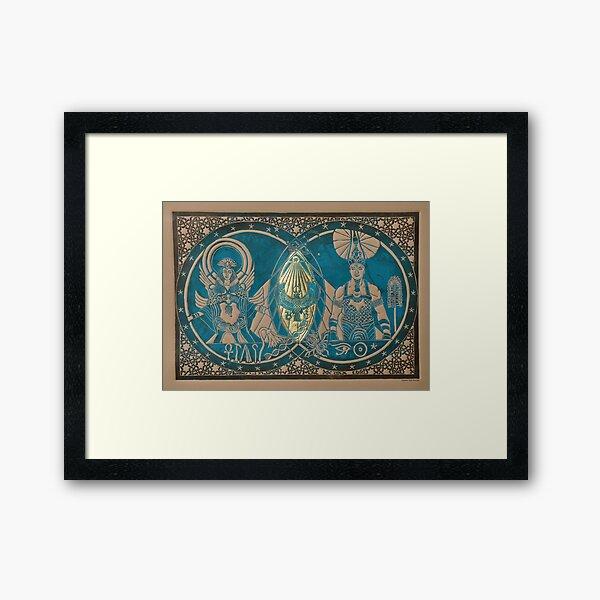 Isis, Osiris and Horus Framed Art Print