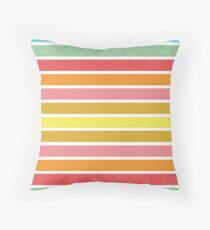 Summer vibes colorful pattern colorful stripes Floor Pillow