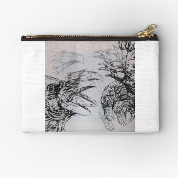 Crows And Their Echoes Art Zipper Pouch