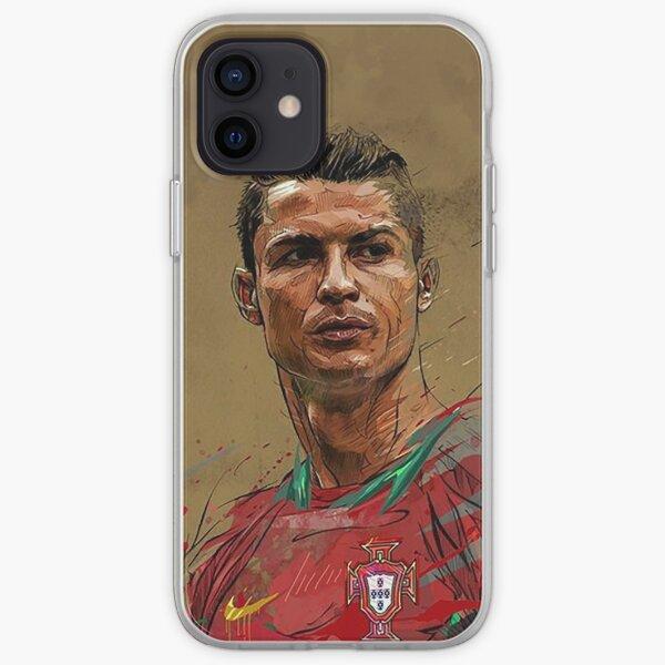 Pintura Acuarela CR7 Funda blanda para iPhone