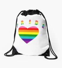 Pride Get Ready to Show Yours Drawstring Bag