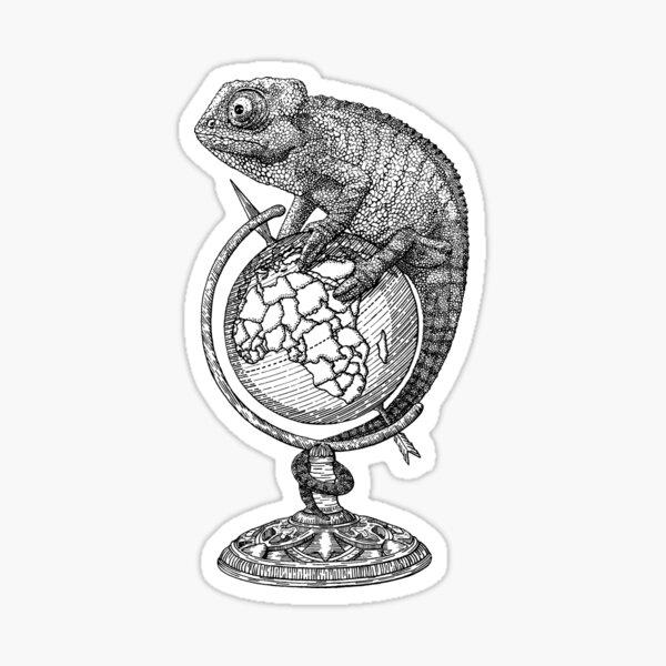 """Globe Trotter"" Sticker"
