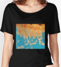 Brush Painted Women's Relaxed Fit T-Shirt