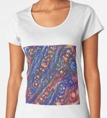 Fire and Water motif Premium Scoop T-Shirt