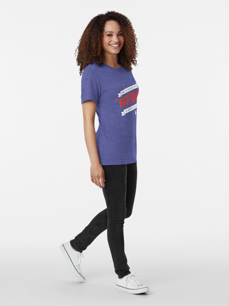 Alternate view of The Internet Tri-blend T-Shirt