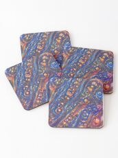 Fire and Water motif Coasters