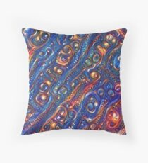 Fire and Water motif Throw Pillow