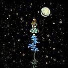 «Wonderland Sky Viewing Time - Alicia en el país de las maravillas» de maryedenoa